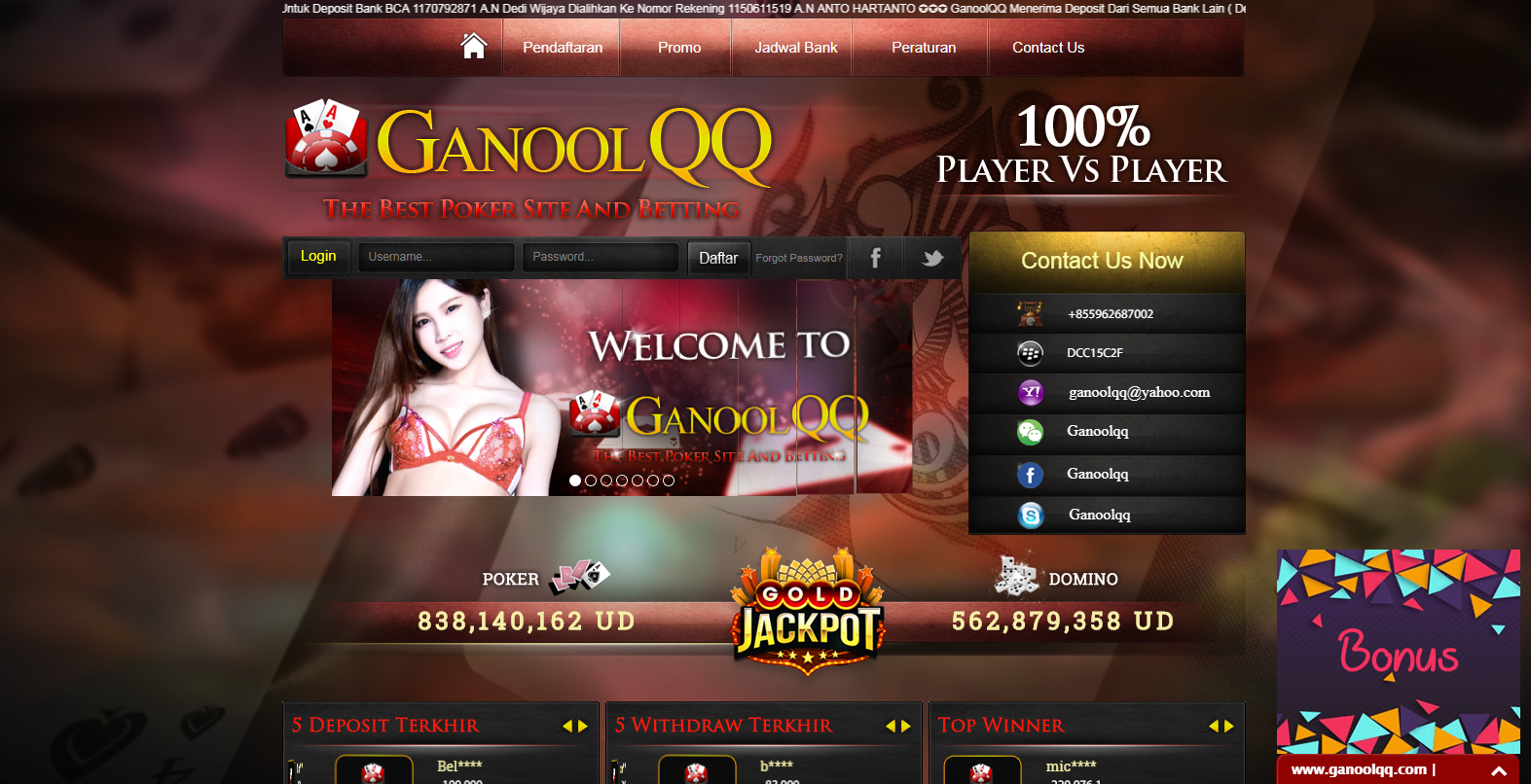 The best casino bonus offers for online players